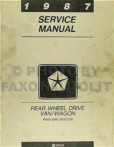 1987 Dodge Ram Van Repair Manual