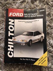 1989 Mustang Repair Manual