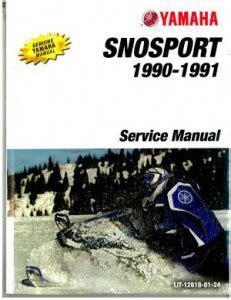 1990 1991 Yamaha Snosport Sv125 Snowmobile Factory Service Manual Lit 12618 01 24