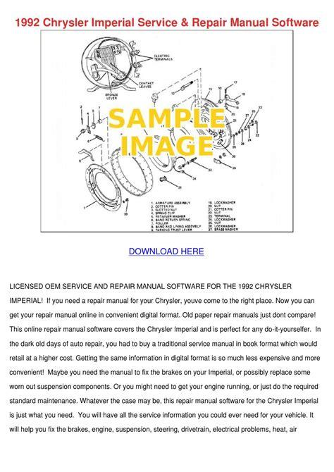 1992 Chrysler Imperial Service Repair Manual