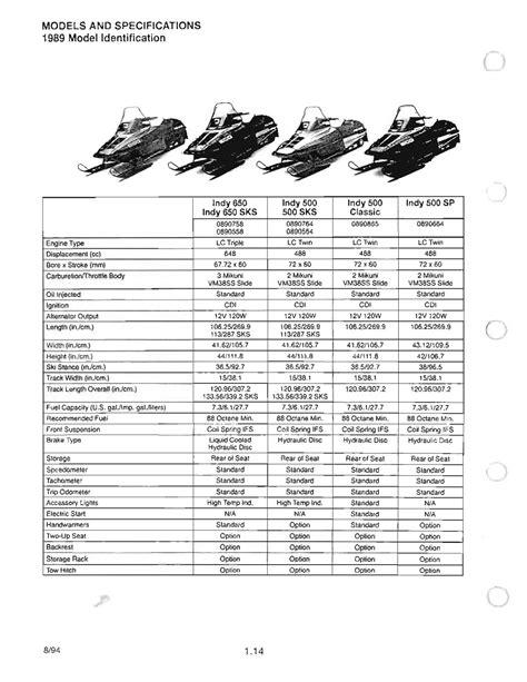 1992 Polaris Indy Lite Factory Service Workshop Manual