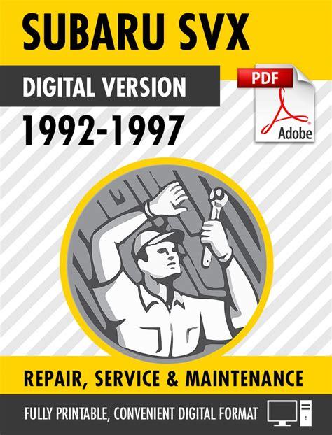 1992 Subaru Svx Service Repair Manual