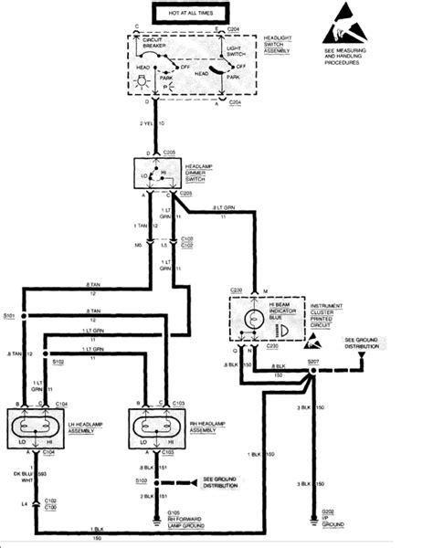 1993 Chevy Headlight Wiring Diagram