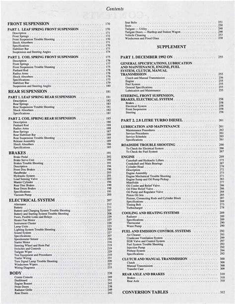 1993 Ford Maverick Workshop Manual