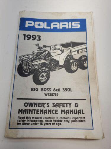 1993 Polaris Big Boss 6x6 Owners Manual