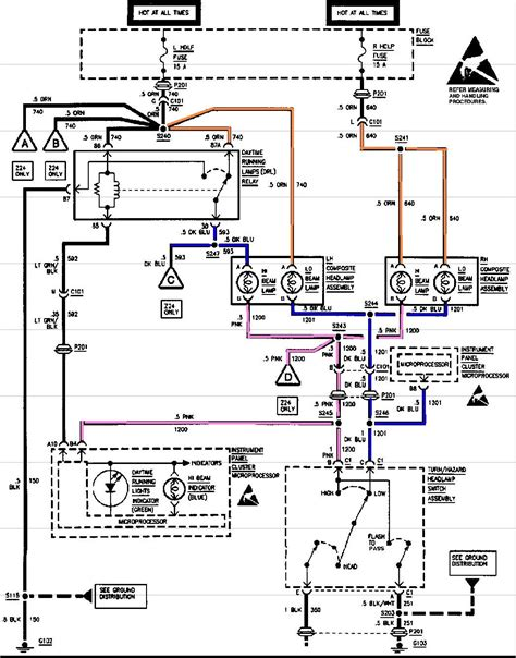 1994 Chevrolet Cavalier Wiring Diagram