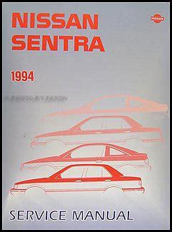 1994 Nissan Sentra Workshop Factory Service Repair Manual
