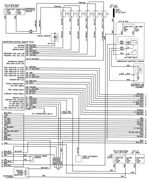 1994 Pontiac Firebird 3 4 Wiring Diagram
