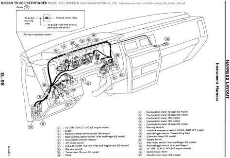 1995 Nissan Pathfinder Headlight Wiring Diagram