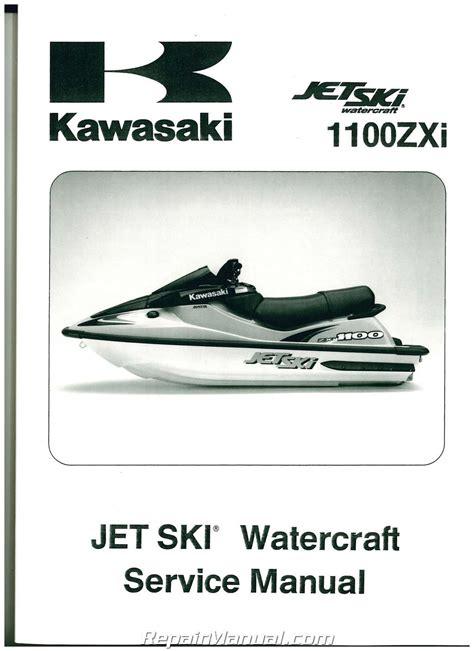 1996 2002 Kawasaki Jet Ski 1100zxi Watercraft Service Manual