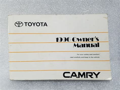 1996 Toyota Camry Owners Manual 01999 33447 With Case