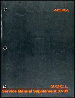 1997 Acura Cl Shop Manual