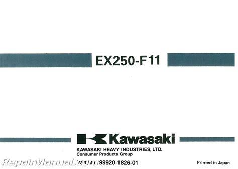 1997 Kawasaki Ex250 F11 Ninja Owners Manual 99920 1826 01