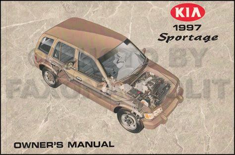 1997 Kia Sportage Owners Manual