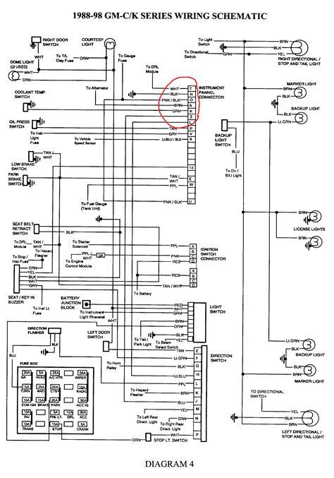 1998 Chevrolet Blazer Wiring Diagram