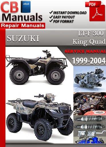 1998 Suzuki 300 King Quad Service Manual
