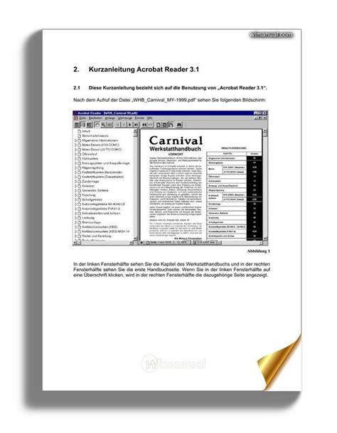 1999 2001 Kia Carnival Repair Manual