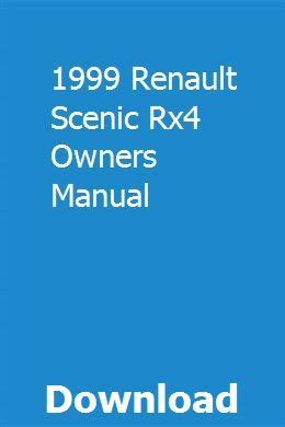1999 Renault Scenic Rx4 Owners Manual