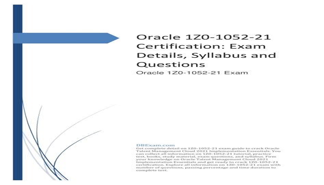 1Z0-1052-21 Exam Fragen