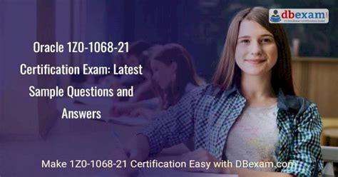 1Z0-1068-21 Latest Exam Format