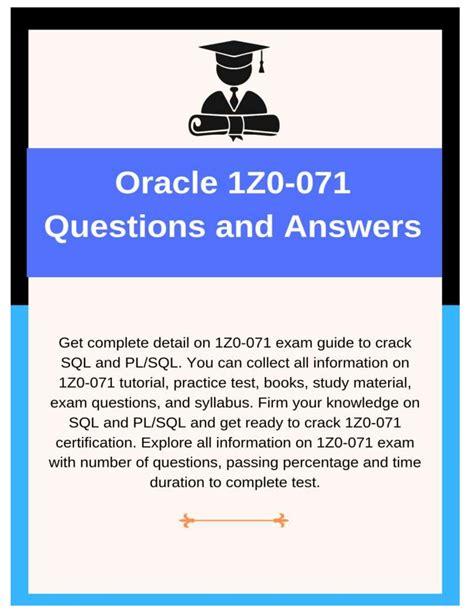 1z0-071 Exam Fragen