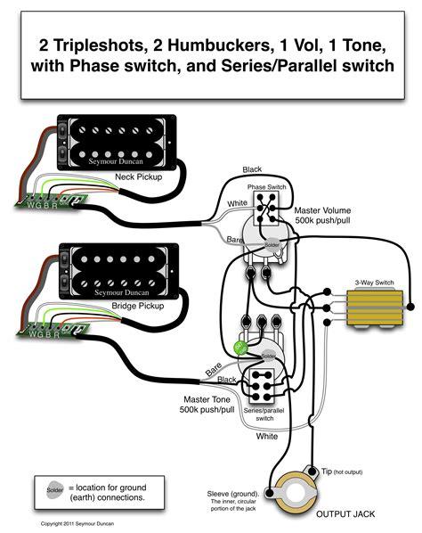 2 Humbucker 3 Way Switch Wiring Diagram 1 Volume