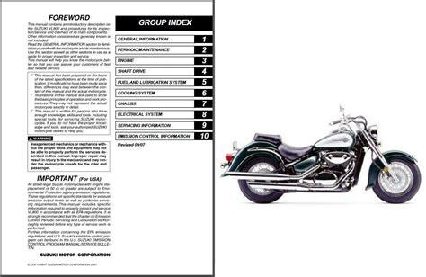 2000 2001 Suzuki Vl800 Owner Manual Vl 800