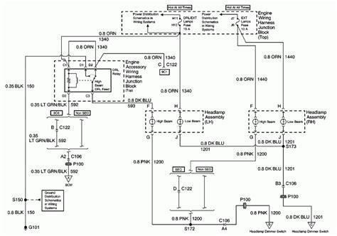 2000 Impala Headlight Wiring Diagram