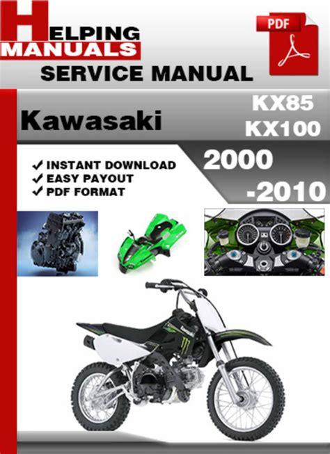 2000 Kawasaki Kx 100 Repair Manual