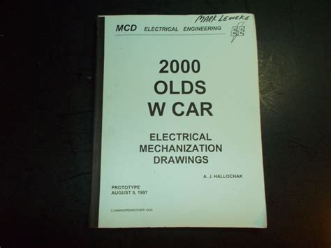2000 Oldsmobile Intrigue Electrical Manual