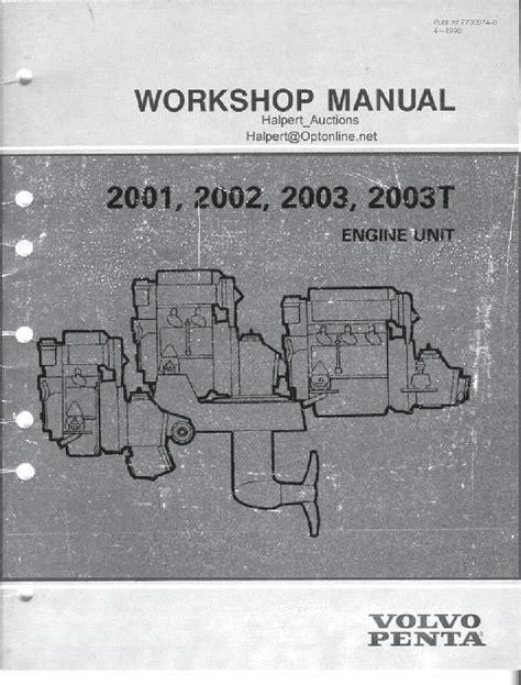 2000 Volvo Penta 30gs Factory Service Workshop Manual