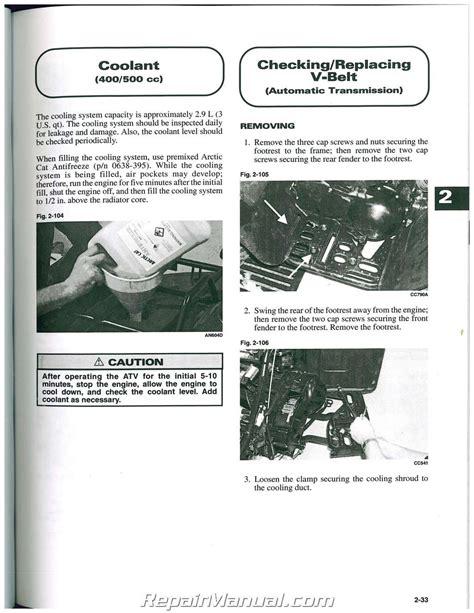 2001 Arctic Cat 250 4x4 Repair Manual