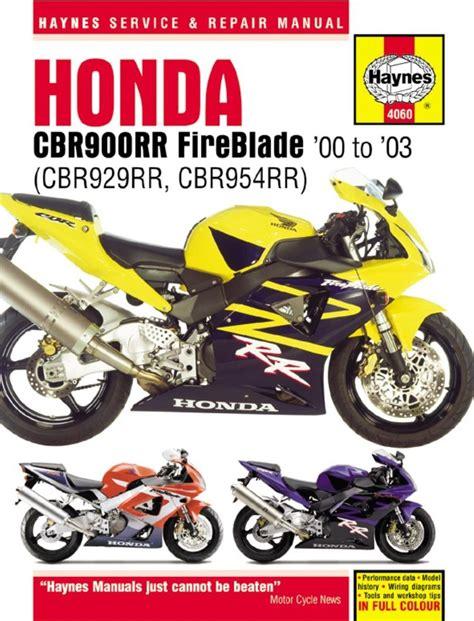 2001 Cbr 929 Repair Manual