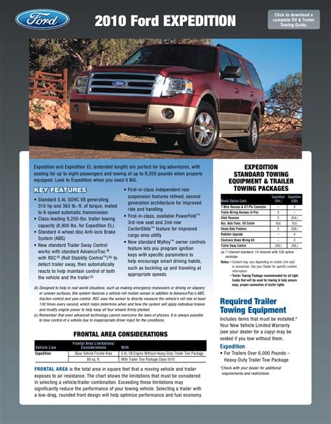 2001 Ford Expedition Towing Guide