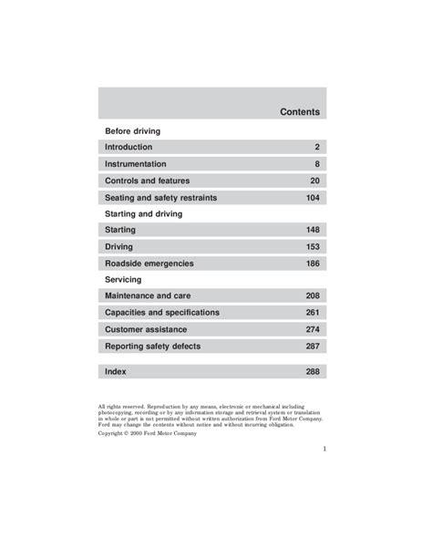 2001 Ford F 150 Manual