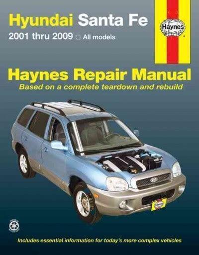 2001 Hyundai Santa Fe Repair Manual