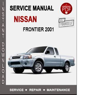 2001 Nissan Frontier Service Manual