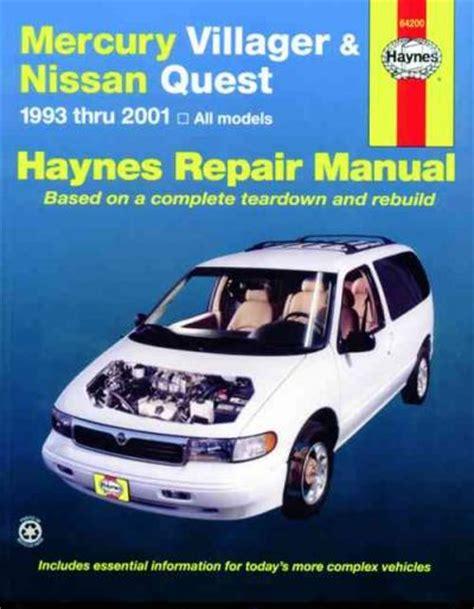 2001 Nissan Quest Factory Service Repair Manual