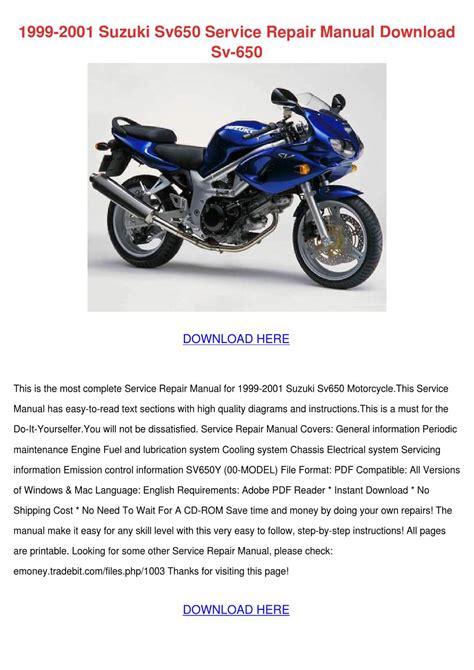 2001 Suzuki Sv650s Service Manual