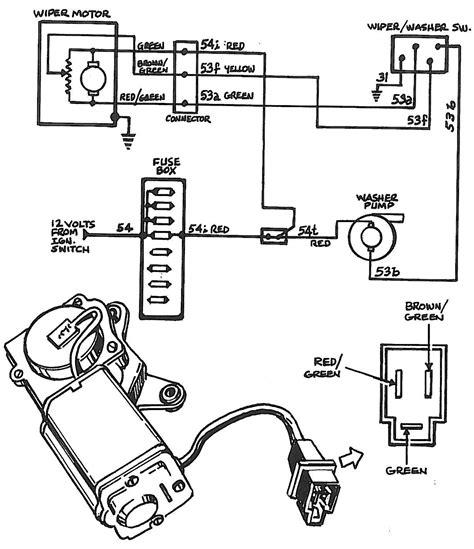 2002 Corvette Wiper Motor Wiring Diagram Schematic