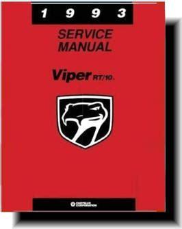 2002 Dodge Viper Service And Repair Manual
