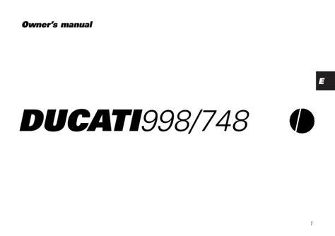 2002 Ducati 998 748owners Manual