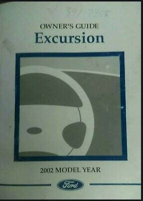 2002 Excursion Owners Manual