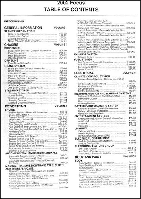 2002 Ford Focus Repair Manual