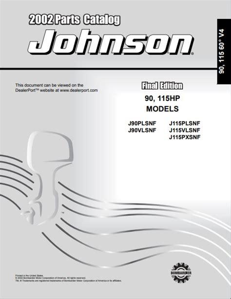 2002 Johnson Brp 90hp Repair Manual