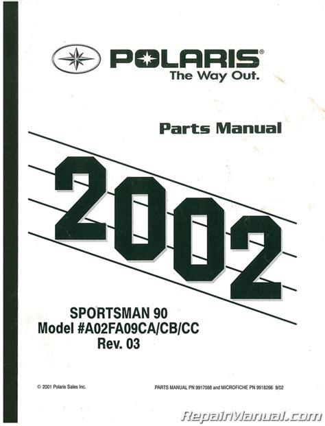 2002 Polaris Scrambler 90 And 90x Parts Manual