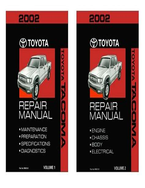 2002 Toyota Tacoma Factory Service Manual