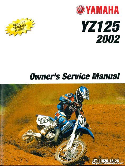 2002 Yz 125 Service Manual