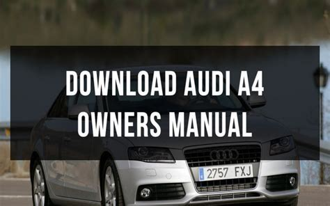 2003 Audi A4 18t Owners Manual 35465