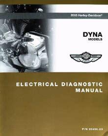 2003 Dyna Models Electrical Diagnostic Manual
